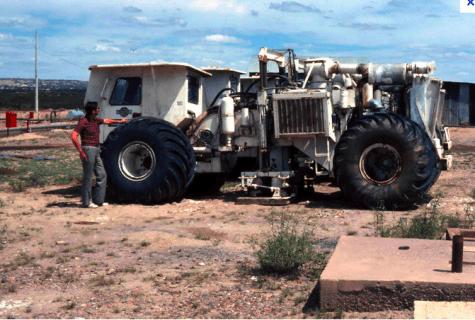 """Exemple de camion """"vibreur"""", recensé par un site anti-gaz de schiste."""