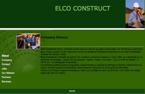 Capture d'écran du site internet de la société roumaine Elco.