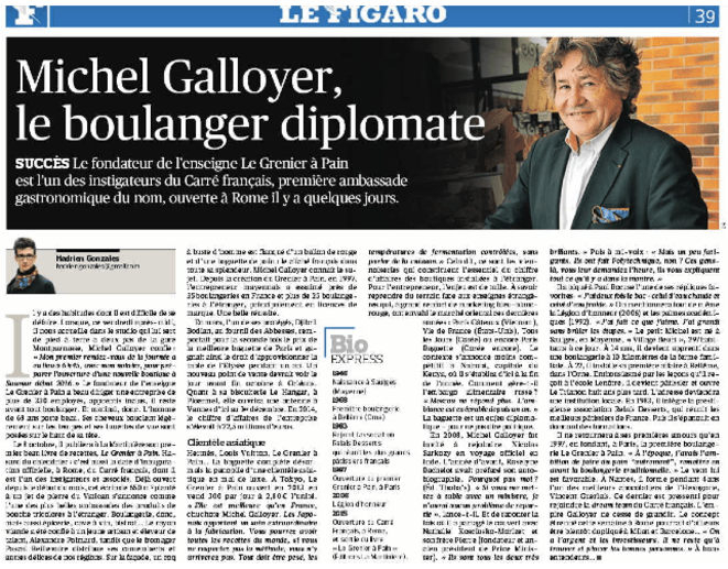L'article du Figaro paru le 23 septembre 2015.
