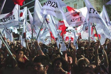 Manifestation pour Syriza, durant les dernières élections.
