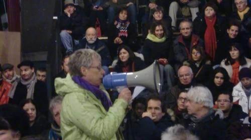 Une des nombreuses assemblées où les montreuillois débattent de l'avenir du Méliès et des actions à venir