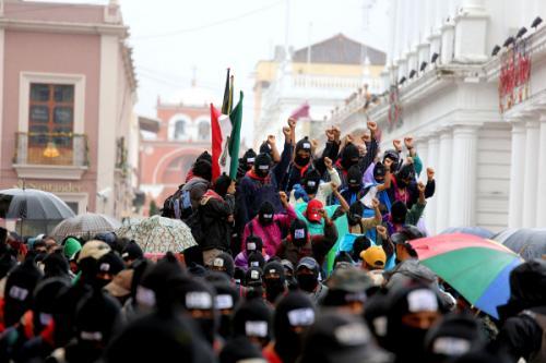 «Le même scénario dans chacune des cinq villes où sont descendus les rebelles zapatistes»