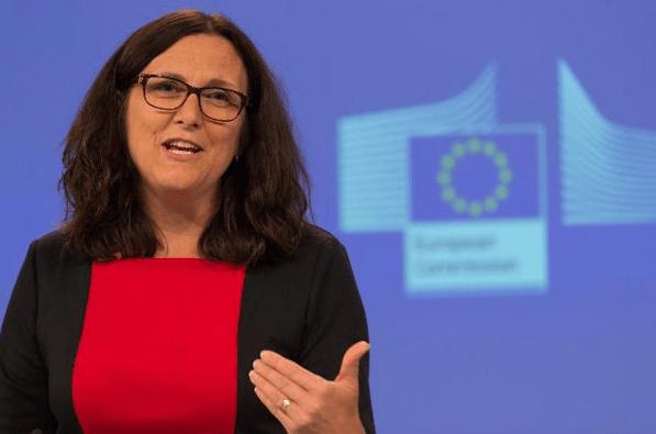 La commissaire au commerce Cecilia Malmström le 16 septembre à Bruxelles.