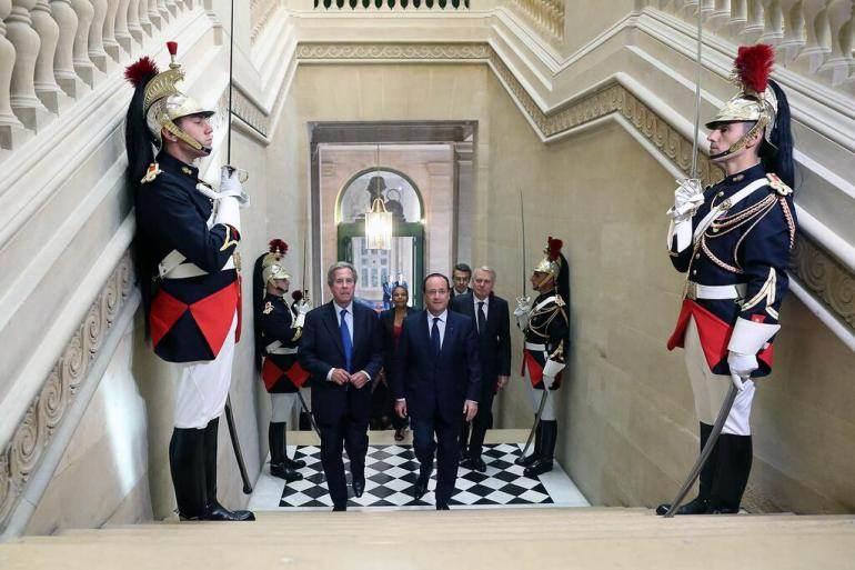 François Hollande au Conseil constitutionnel, le 3 octobre