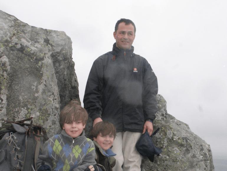Olivier Massonnaud et ses enfants