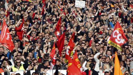 En 2010, manifestation des salariés du privé et du public contre la réforme Woerth