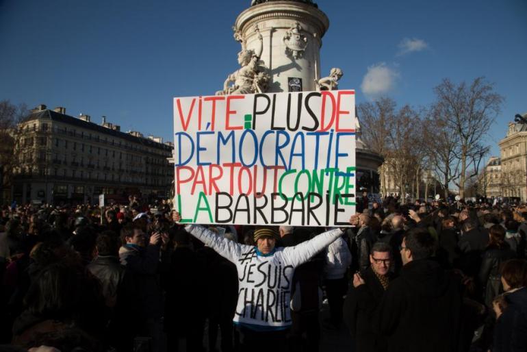 11 janvier 2015, place de la République, à Paris.