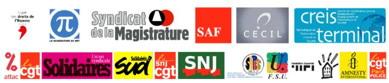 Les organisations qui appellent au rassemblement le 4 mai à 18h30, Place des Invalides.