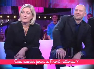 Marine Le Pen et Alain Soral dans l'émission de Frédéric Taddéï.