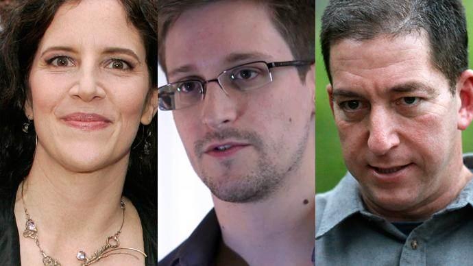 Laura Poitras, Edward Snowden et Glenn Greenwald