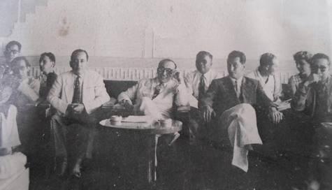 Hocine Aït Ahmed à la conférence de Bandung, en 1955.