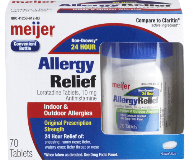Meijer Allergy Relief Loratadine Tablet  Ct