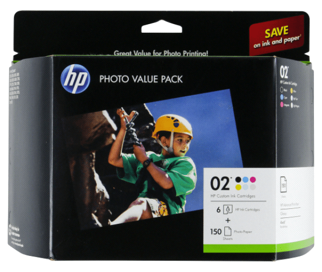 Hp 02 Series Photo Value Pack  X 6