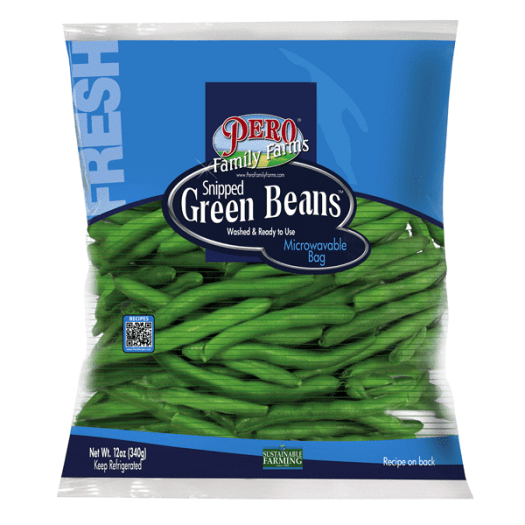 Pero Family Farms Snipped Green Beans Bag 12 oz