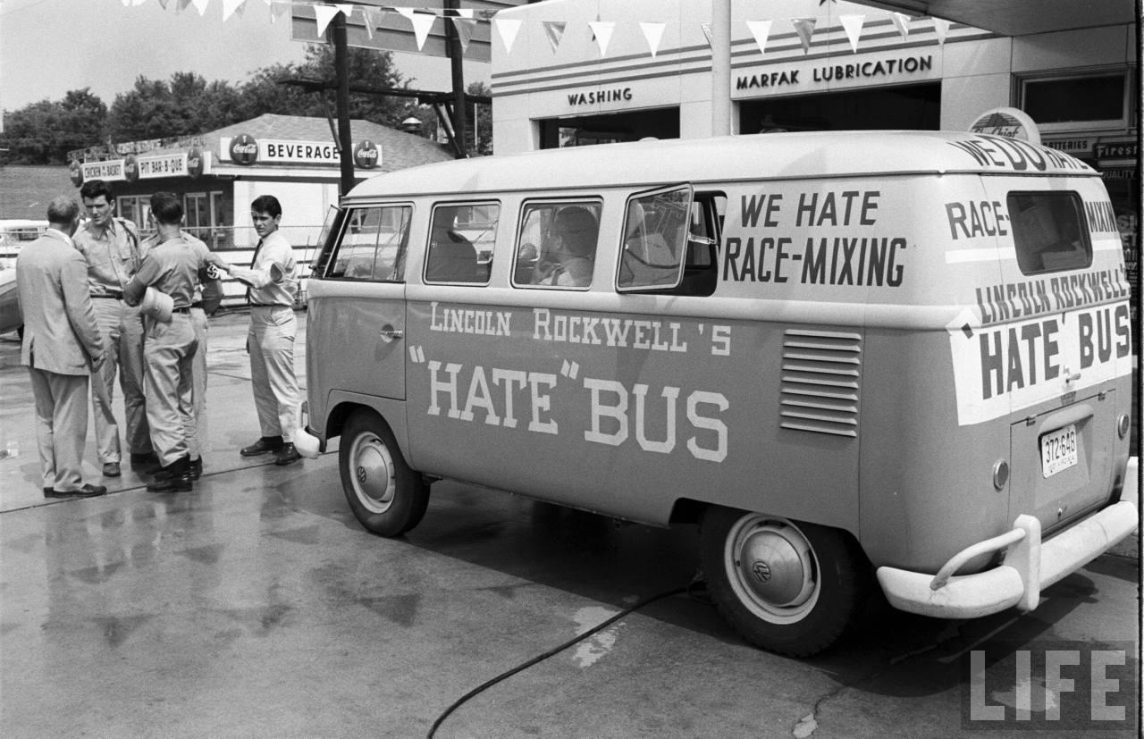American nazi hate bus, photo by Joe Scherschel