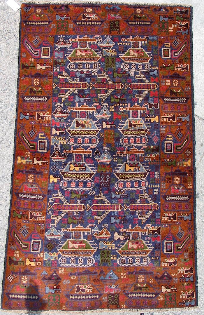 Image result for balutch war rug