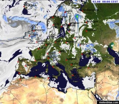 Weather maps   Europe   meteoblue map map map map map map
