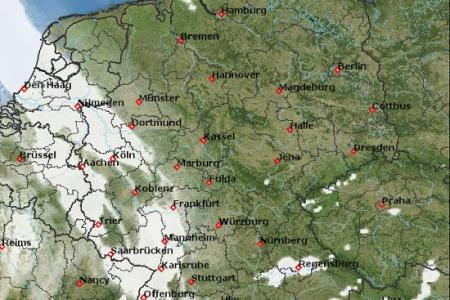 Weather maps   Germany   meteoblue map map