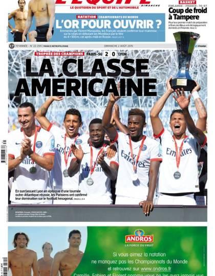 L'Équipe du dimanche 02 août 2015