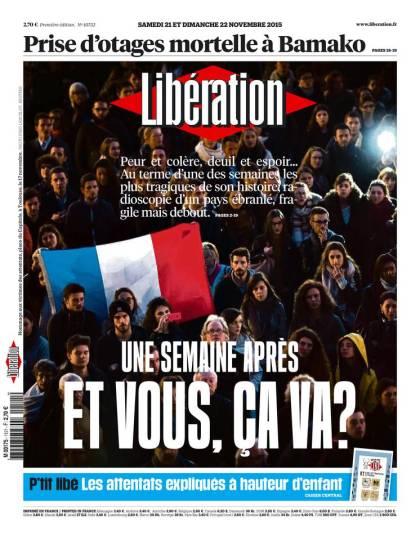 Libération du Samedi 21 et Dimanche 22 Novembre 2015