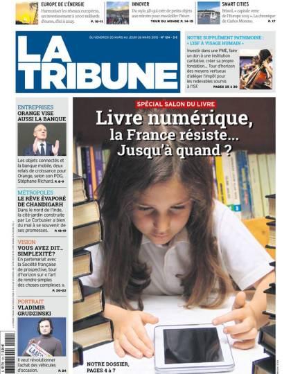 La Tribune Hebdomadaire 20 mars 2015