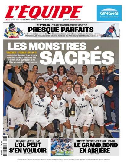 L'Équipe du lundi 14 mars 2016