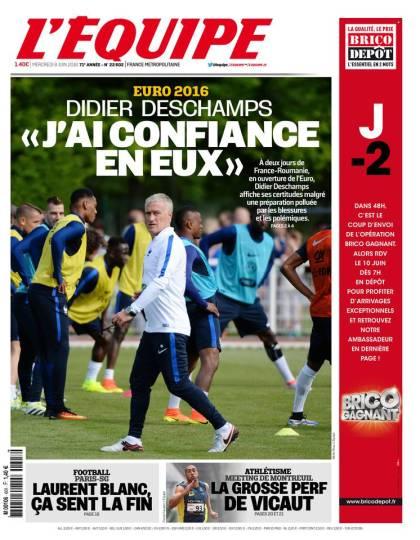 L'Équipe du mercredi 08 juin 2016