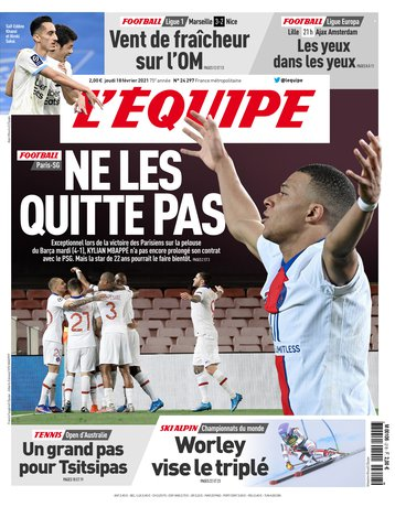 L'équipe (@lequipe) june 15, 2021. Le Journal L Equipe L Edition Du 18 Fevrier 2021 L Equipe
