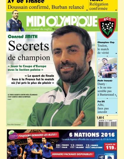 Midi Olympique Vert 22 janvier 2016