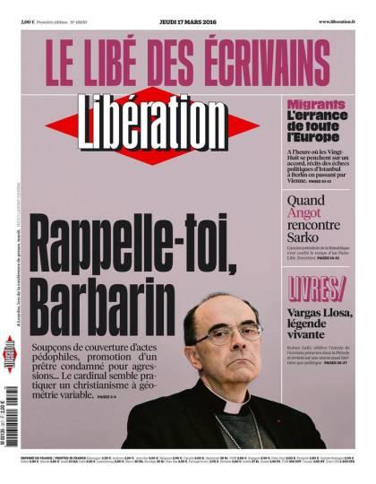Libération du jeudi 17 mars 2016