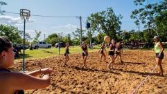 Primer torneo de beach cestoball en Eldorado