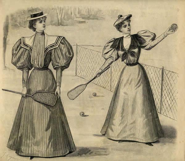 Petit historique de la mode féminine au tennis femme tennis 1