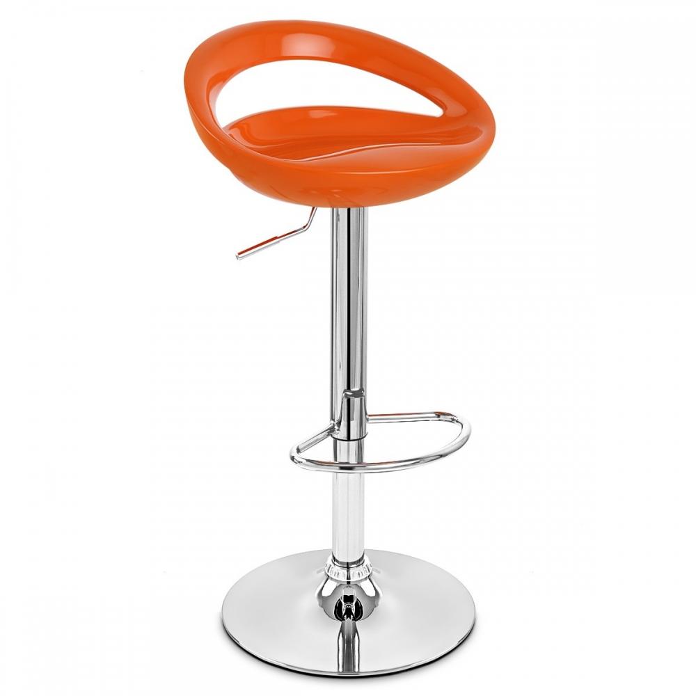 chaise de bar abs chrome crescent