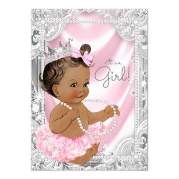 African American Baby Shower Invitations Mother Owl
