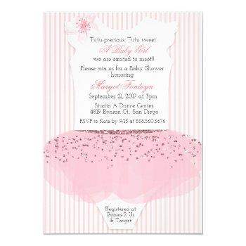 Ballerina Baby Shower Invitations Mother Owl