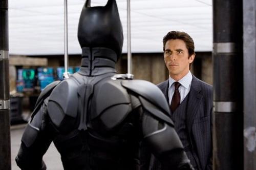 Bale last time putting on Batman suit