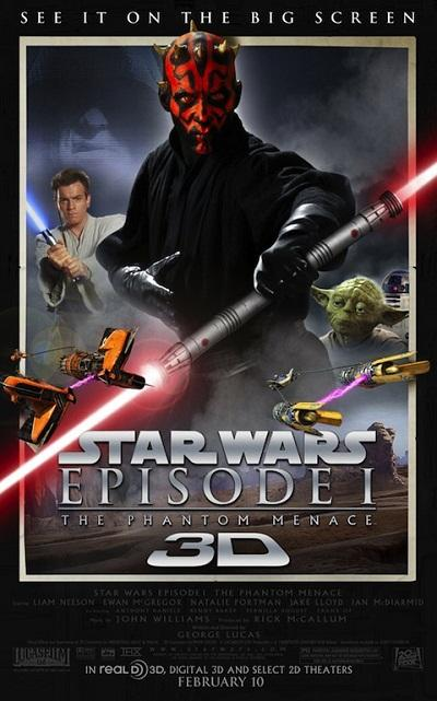 Star Wars Episode 1: The Phantom Menace 3D Poster