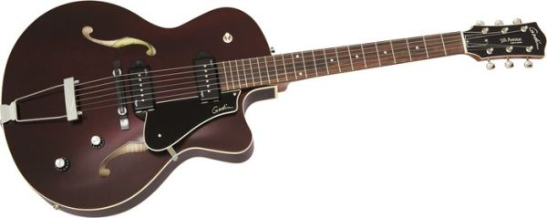 Godin 5Th Avenue Cw Kingpin Ii Archtop Electric Guitar Burgundy