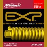 D'addario Exp12 Coated 80 / 20 Bronze Medium Acoustic Guitar Strings