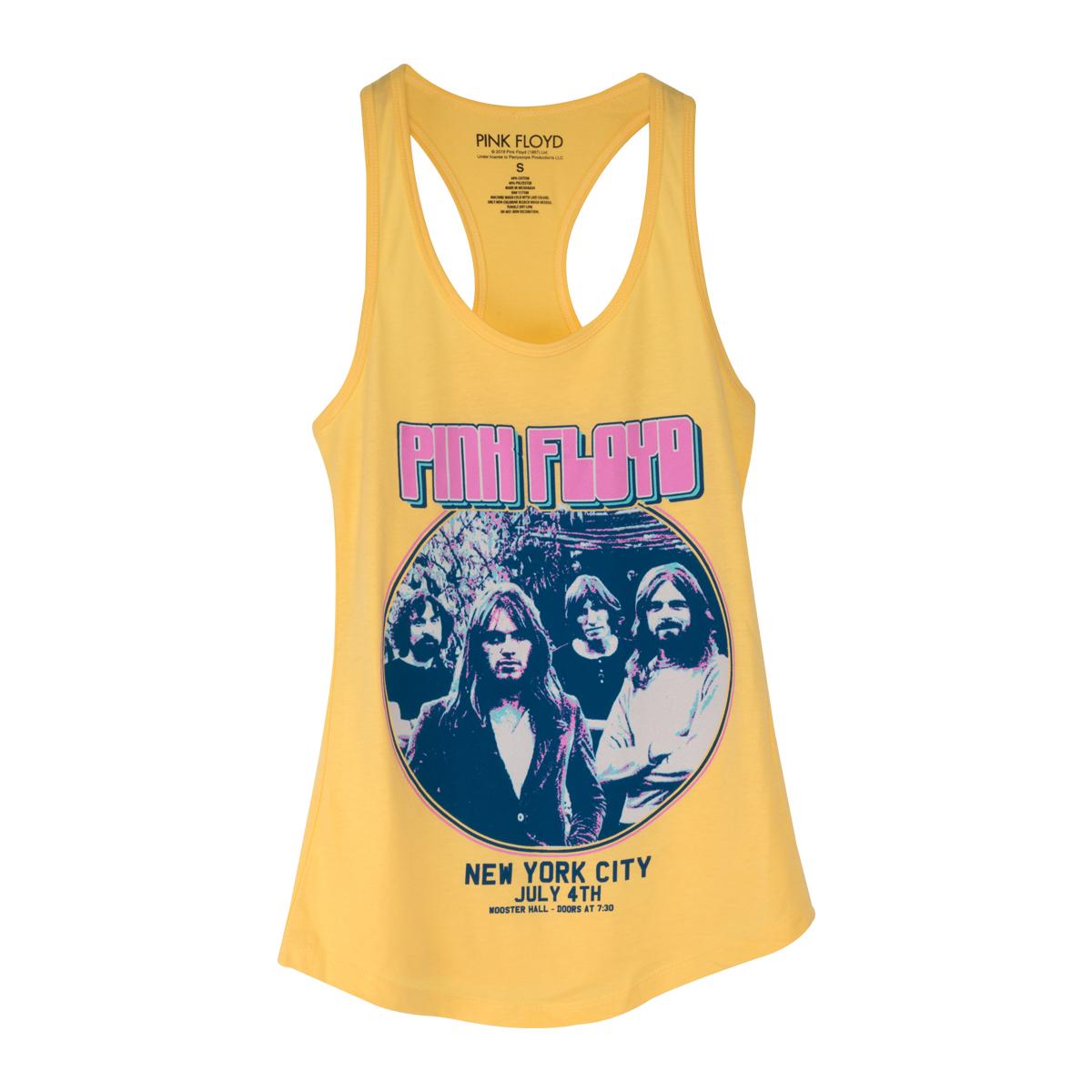 Pink Floyd New York City July 4th Circle Logo Yellow Tank