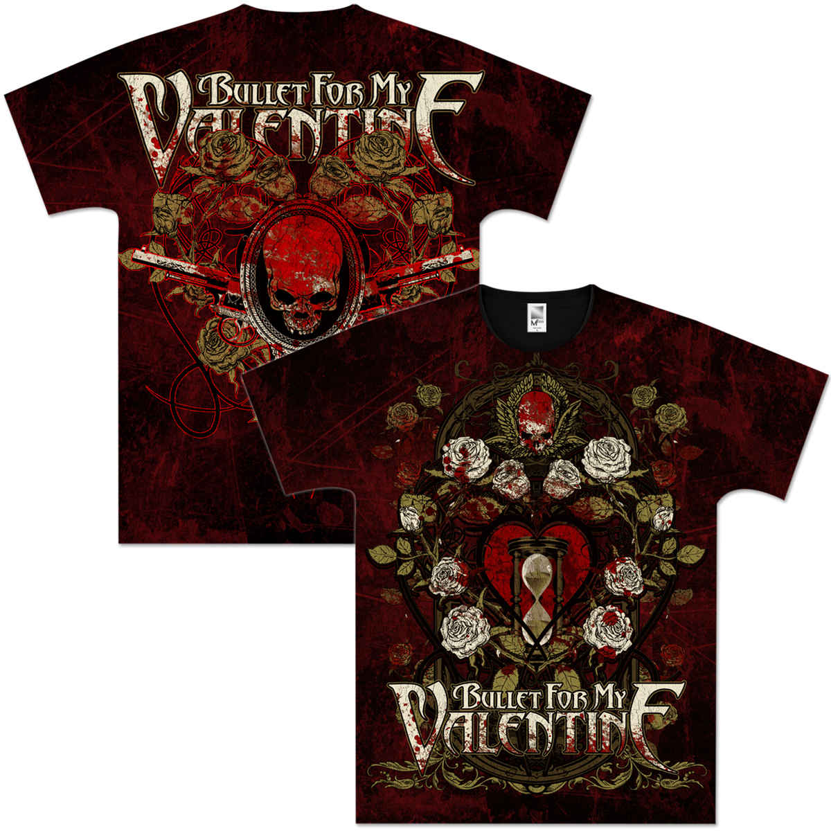 Bullet For My Valentine Dead Roses All Over T Shirt Shop