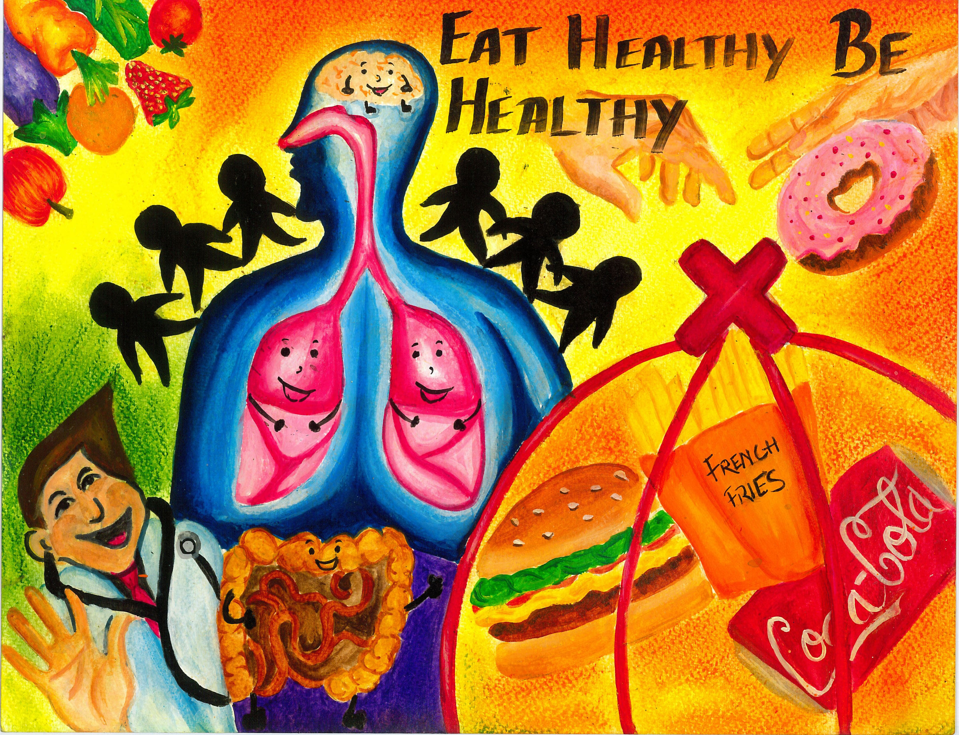 Poster Designing Competition For A Healthy Lifestyle