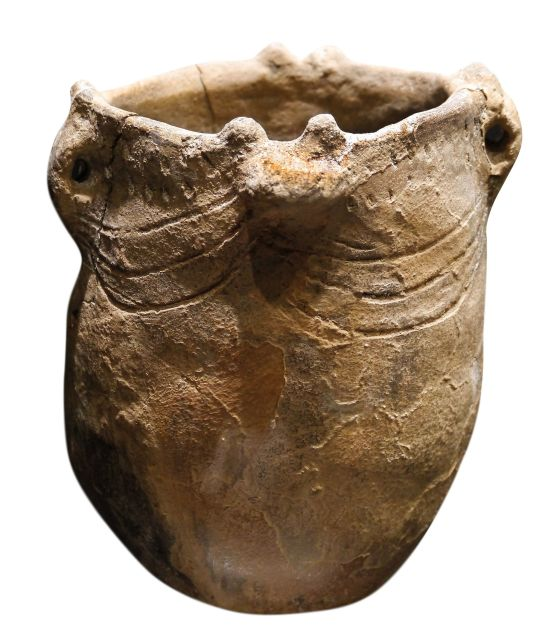 A neolithic vessel of the type used in Gibraltar during Calpeia's time.