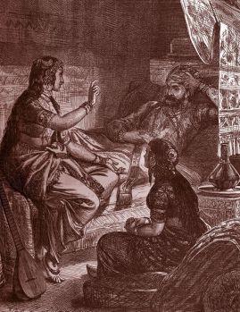 """Scheherazade cautiva a su esposo con cuentos para dormir en """"Las mil y una noches""""."""