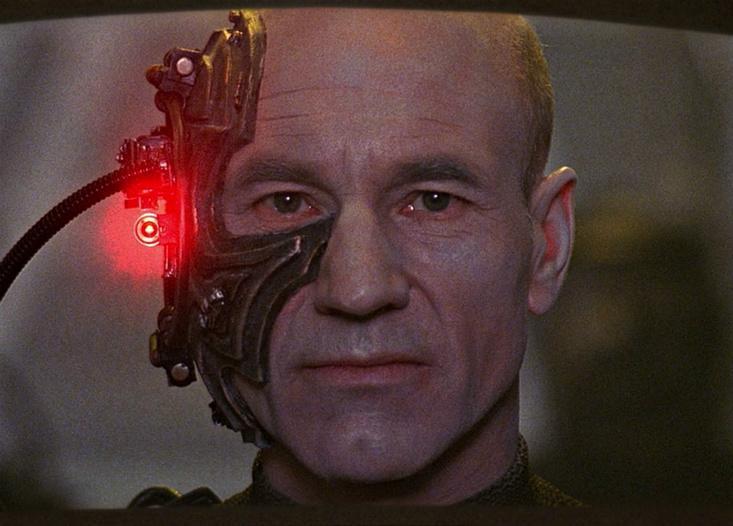 Locutus Picard Stewart Borg Star Trek