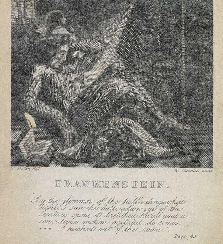 How a Volcanic Eruption Gave Birth to Frankenstein and Dracula YELLOW EYE  An illustration from an 1831 edition of Frankenstein features  this indelible line from the novel     By the glimmer of the  half extinguished light