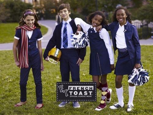 Four kids wearing French Toast uniforms