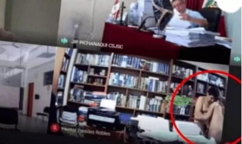 Advogado flagrado fazendo sexo durante audiência virtual – Foto: Reprodução