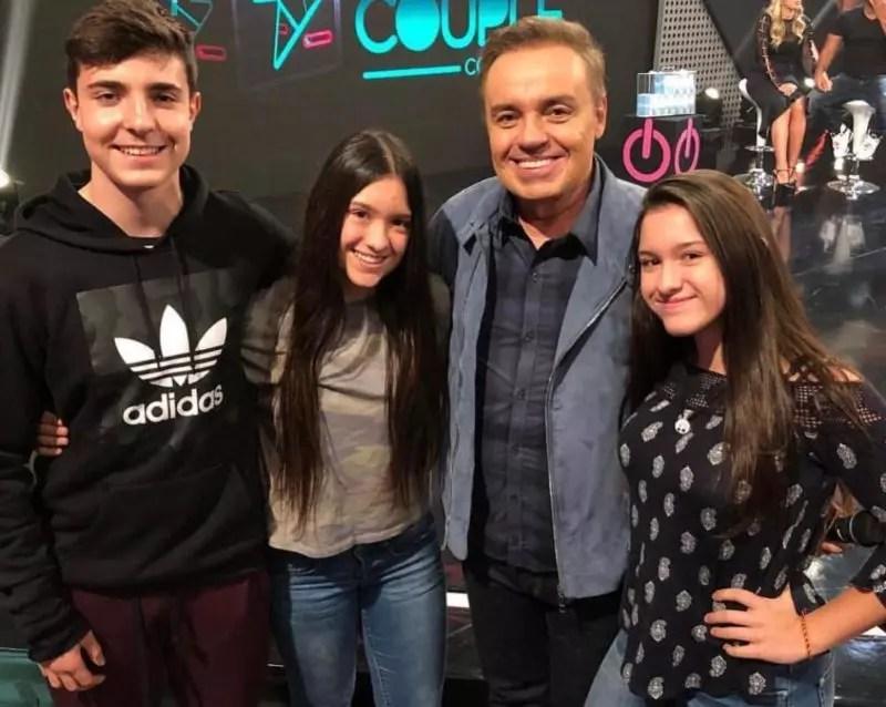 João Augusto with Marina, Sofia and Gugu Liberato –  Photo: Reproduction/Instagram