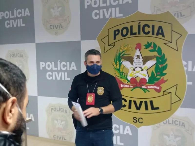 Delegado Paulo Reis Venera atendeu a imprensa na tarde deste sábado, 12 – Foto: Gladionor Ramos/Divulgação ND
